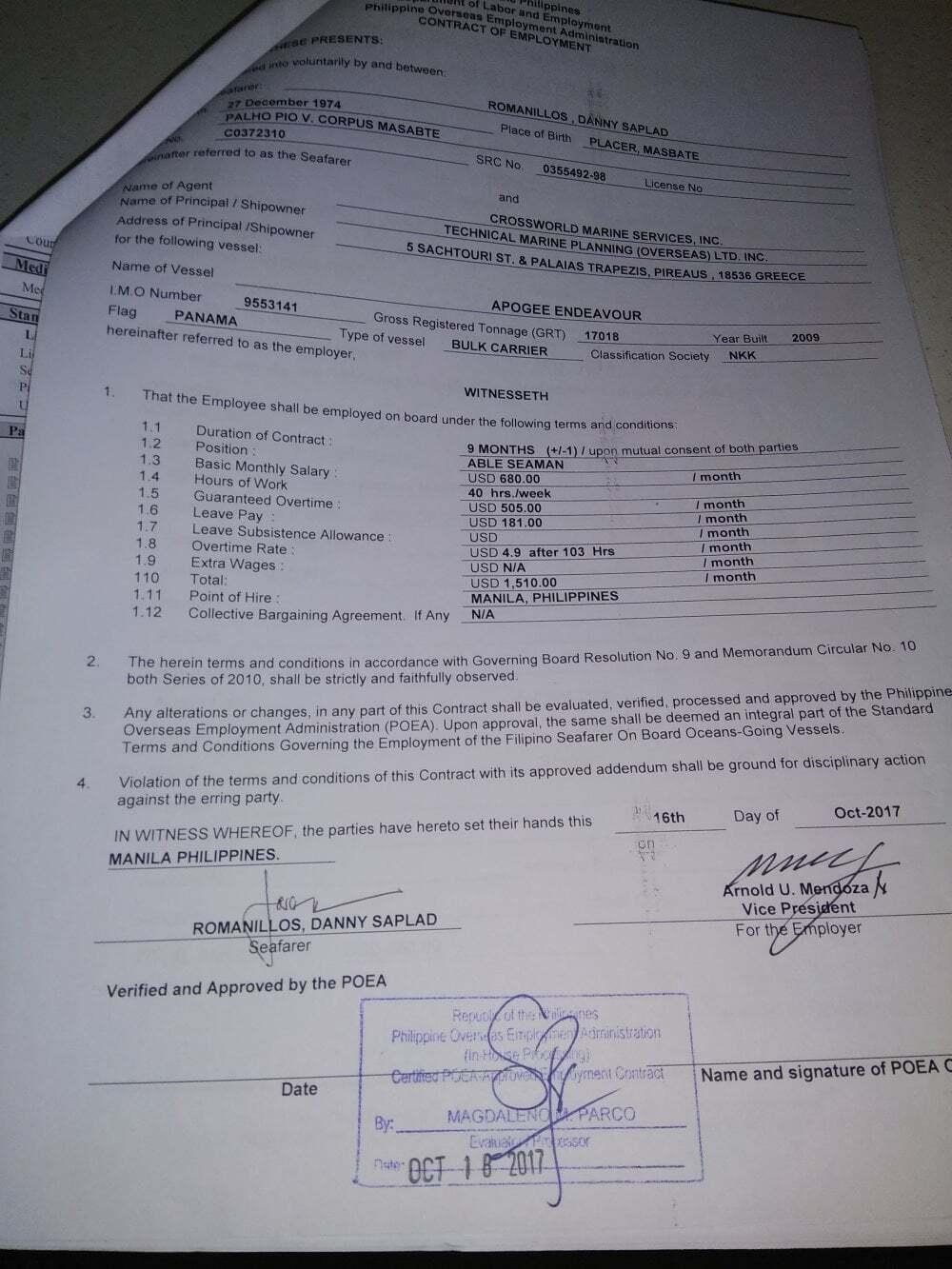 mevzuatlar - gemi adamı kontratları - Kontrat İmzalarken Dikkat Edilmesi Gerekenler