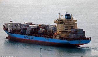 haberler, gundem - gemide yangın 335x195 - Maersk Gemisinde Yangın