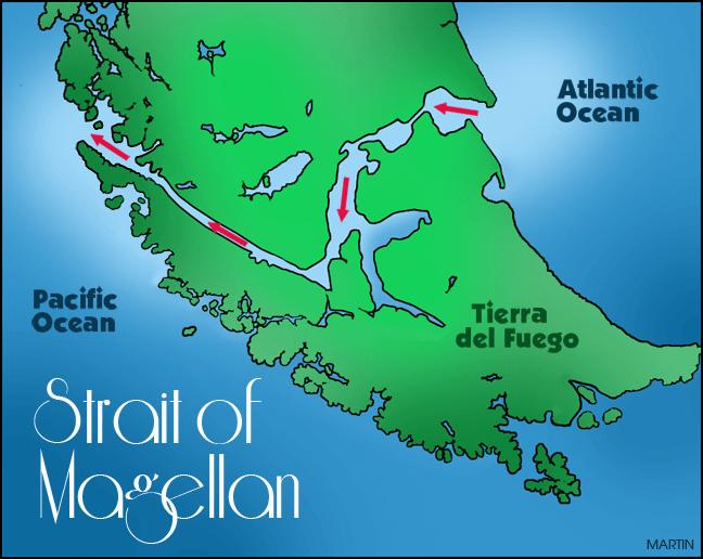 deniz-kultur - macellan boğazı - Dünyanın Önemli Boğaz ve Kanalları