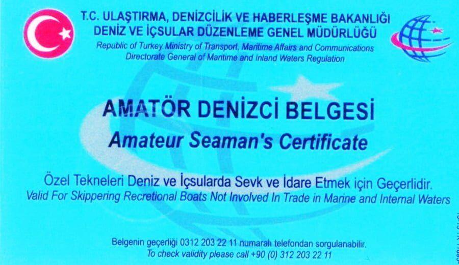 mevzuatlar - Amatör Denizci Belgesi - Liman Başkanlığı Başvuru Belgeleri 2019