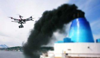 Gemi Emisyonları Drone ile Kontrol Edilecek