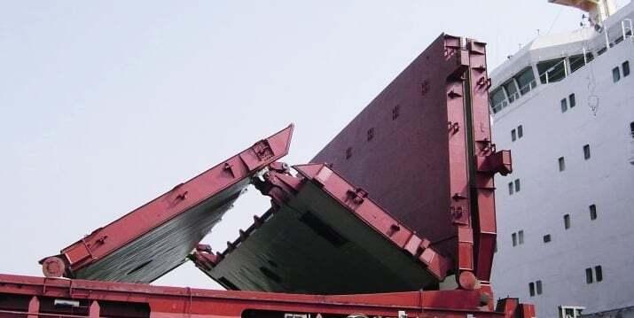teknik-bilgiler, gemi-insaa-ve-stabilite, dersler - Folding Type Hatch Cover - Gemi Ambar Kapakları ve Çeşitleri