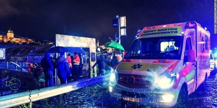 Macaristan'ın başkenti Budapeşte'de Tuna Nehri'nde meydana gelen gemi kazasında 7 kişi hayatını kaybetti.