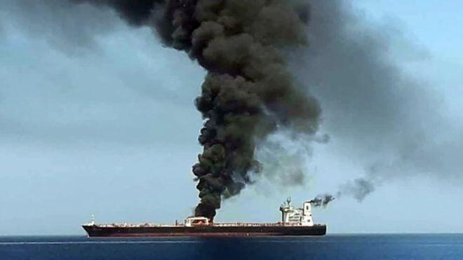 Füze Saldırısına Uğrayan Geminin Videosu