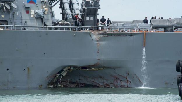 Amerikan savaş gemisi kazası