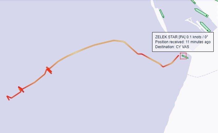 haberler, gundem - Zele Star Track - Zelek Star Ashdod Limanında Karaya Oturdu