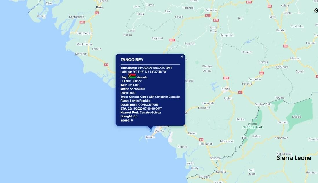 Tango Rey İsimli Türk Gemisine Korsan Saldırısı